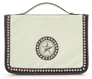 121314 Laptop Case Bag Western Star Rhinestone White