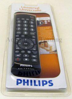 Universal 3 Device Remote Control Big Button TV CAB SAT DVD SRU2103