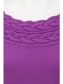 Alexon Heather long sleeved bardot jumper Purple