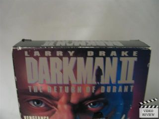 Darkman 2 The Return of Durant VHS Larry Drake 096898213134