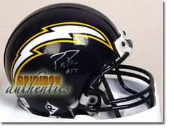 Philip Rivers Autographed San Diego Chargers Throwback Mini Helmet GA