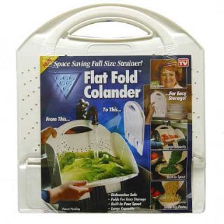 LOT OF 3 FLAT FOLD COLANDERS GREAT CHRISTMAS FIFT, KITCHEN TOOLS SAVE