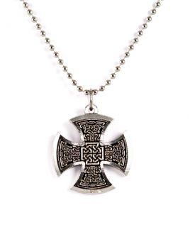 Jewelry Large Pewter Rocker Celtic Maltese Cross Pendant