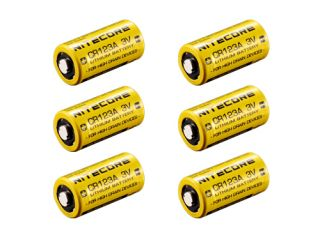 Nitecore 6 Pack CR123A 3V 1500mAh Lithium Li ion High Performance
