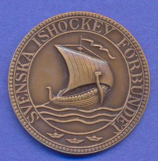 Medal Swedish Ice Hockey Viking SHIP Z172
