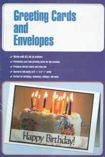100 Blank Inkjet Laser Copier Greeting Cards with Envelopes White