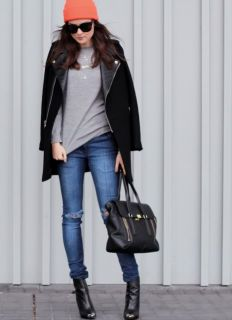 2012 New Zara Black Lapel Real Lambskin Leather Zip Coat Jacket XS s M