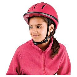 Childs Horse Riding Hat Helmet Pink 52 55cm Brand New