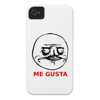 Me Gusta Face with Text Case Mate iPhone 4 Case