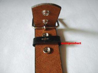 New Black Leather Fancy 3 Row Pyramid Stud Belt M 34 36