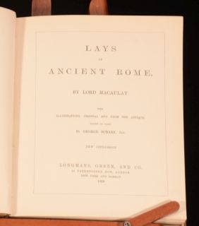 1899 Lays of Ancient Rome Lord Macaulay