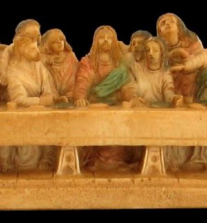 Vintage The Last Supper of Jesus Christ Italy Signed A Giannetti Hand