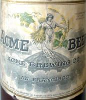 Acme Beer Tin Litho Sign 1940s Vintage 16 x 23 Excellent Condtion