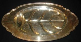 VTG L.B.Smith Co. Silverplated Meat Carving Tray Platter LBS Silver CO
