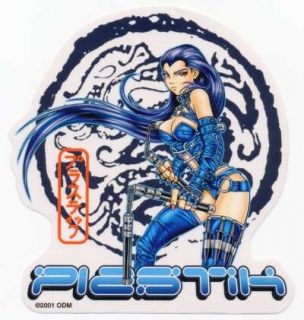 Plastik Anime Nunchuchs Sexy Vinyl Sticker Decal Look