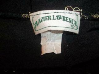 Black Beige Red Floral Travel Knit Frazier Lawrence Skirt M MD
