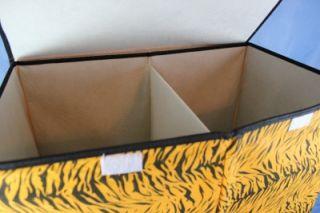 New Tiger Animal Print Laundry Double Hamper Folding Portable Dorm