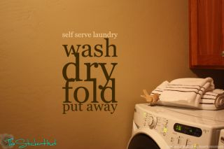 Serve Laundry Room Decor Vinyl Wall Art Decor Decals Stickers 1397