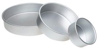 Preferred 3 Piece Round Tier Layer Birthday Wedding Cake Pans