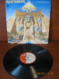 Iron Maiden LP Powerslave Press Colombia Promotional