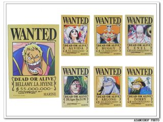 One Piece Wanted Poster 15 Affiches SERIENUMERO4 ワンピース