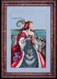 Red Lady Pirate Mirabilia Cross Stitch Pattern New