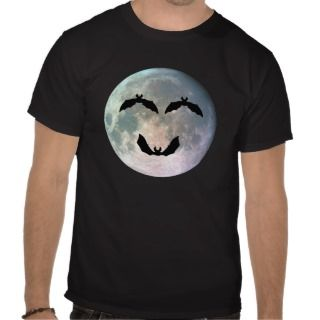 Vampire Bats, Full Moon Sad Face Goth styled Shirt