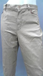 Lauren Ralph Lauren Petite 10P Stretch Casual Straight Pants Tan Solid