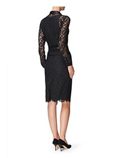 Jaeger Lace scalloped hem pencil skirt Black