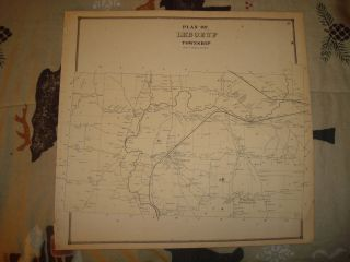 Leboeuf Township Erie County Pennsylvania Antique Map N