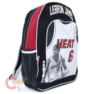 NBA Miami Heat 6 Lebron James School Backpack Large Bag