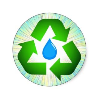Recycle Water Sticker Seals
