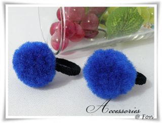 Pom Poms Hair Tie Ponytail Holder So Cute for Baby Girl Kid 7 Color U