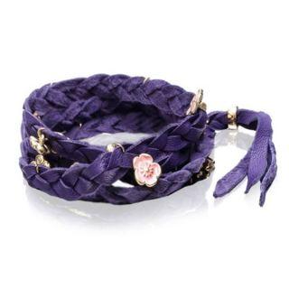 Disney Couture Kidada Blossom Leather Wrap Bracelet