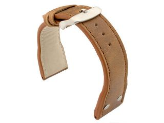 22mm 24mm Genuine Leather Watch Strap Band Pilot Military MV