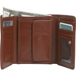 Leatherbay Tri Fold Mens Leather Wallet Antique Tan