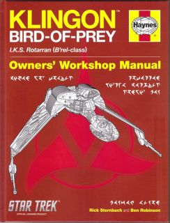 Star Trek Klingon Bird of Prey Owners Workshop Manual Hardcover Book