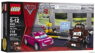 Lego 8424 Disney Cars 2 Maters Spy Zone Mini Figs Playset New SEALED