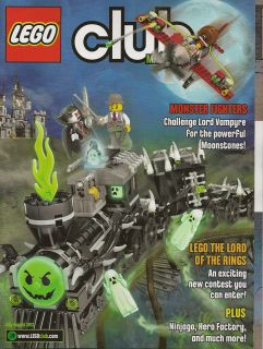 Lego Club Magazine July Aug 2012 Monster Fighters LOTR Ninjago