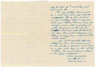 Lee Harvey Oswald Autograph Letter Signed 10 22 1959