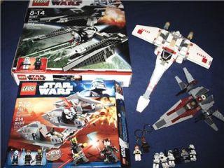 Lego Set Star Wars Lot 7957 Sith Nightspeeder 8087 Tie Defender and 2