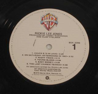 Rickie Lee Jones s T Self Titled 1979 LP NM