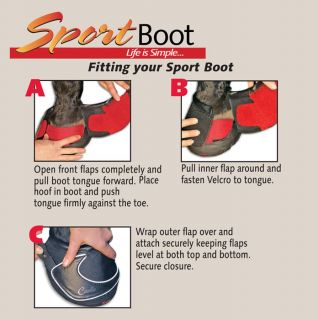 Cavallo Horse Hoof Sport Boot Size 1 with Pastern Wraps and Gel Pad