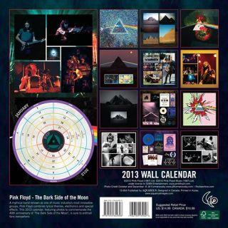 Pink Floyd The Dark Side of The Moon 2013 Wall Calendar