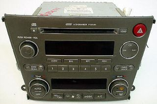 Subaru Legacy 2006 Original Car Audio Factory 6 Disc Radio with Auto