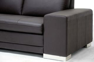 Contemporary Calista Leather Sectional Sofa Reverse