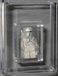 2010 LEGO STAR WARS TOY FAIR WHITE BOBA FETT & BOOK NY MISB AFA 9 ONLY