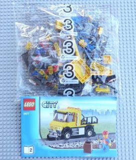 Lego City Trains 3677 Red Cargo Train Railroad Repair Truck New Great