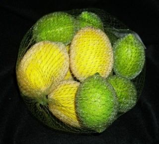 Bag of Clear Beaded Lemons and Limes Artificial Fruit for Fruit Basket