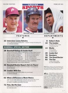Roger Clemens Jose Canseco Lenny Dykstra Rob Dibble 2 1991